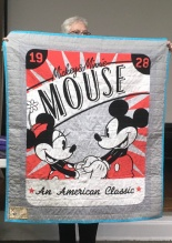 Mickey and Minnie Mouse on quilt back