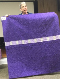 purple quilt back