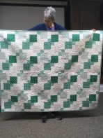 green squares quilt