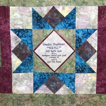 quilt block with label