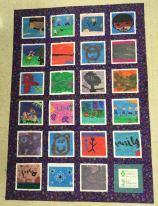 quilt from kids' art