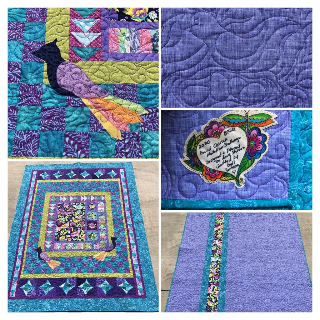 colorful bird quilt